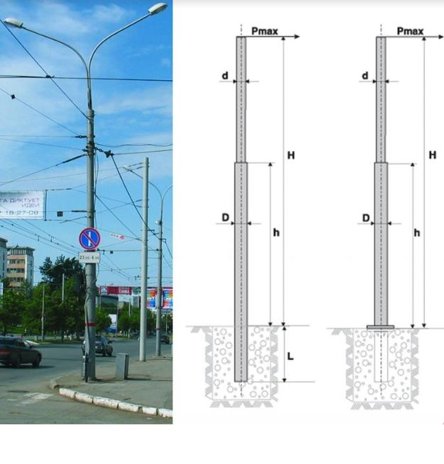Силовые опоры освещения тип ТП