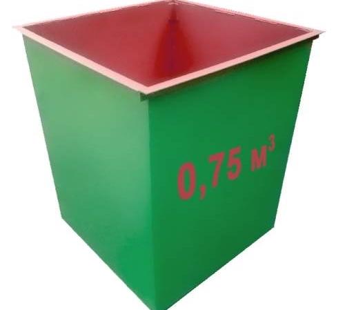 Мусорные контейнеры металлические 0,75м3 1,5мм