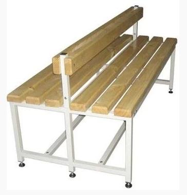 Скамейка для раздевалок двухсторонняя со спинкой
