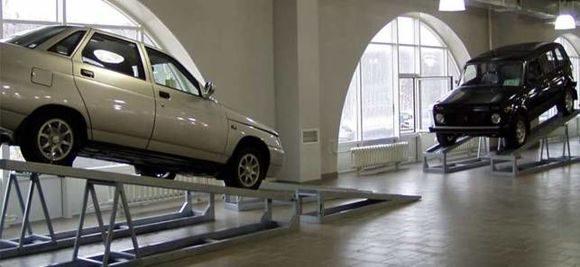 Эстакада для автосалона, Автоподиум