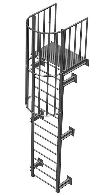 Вертикальная пожарная лестница П1