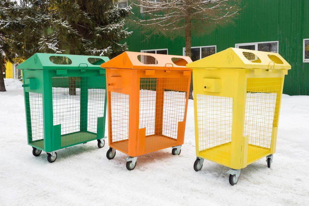 Модули для раздельного сбора мусора