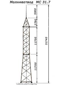 Молниеотвод МС — 31,7