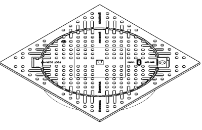 Люк ВЧ тип Т с квадратным корпусом С250